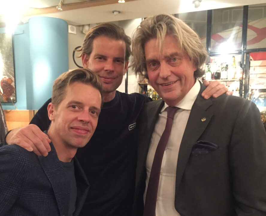 Ulf Söderberg med Alexander och Calle Schulman